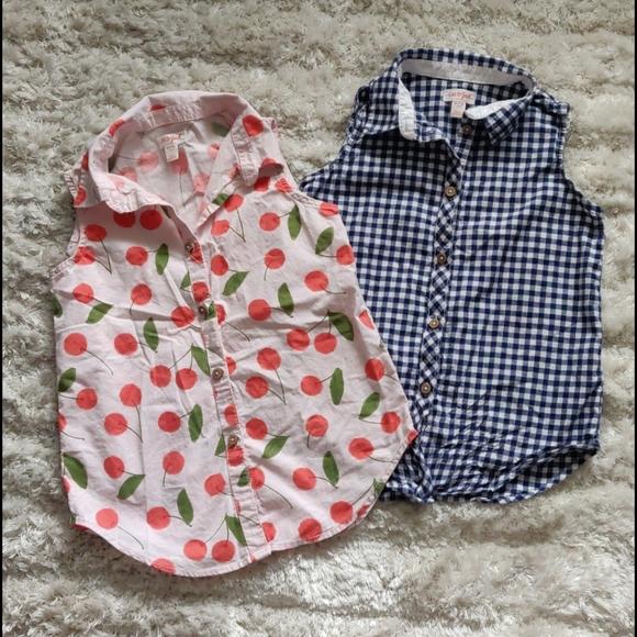 EUC Sleeveless button-up girl's shirts